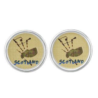 スコットランドのバグパイプのカフスボタン カフスボタン