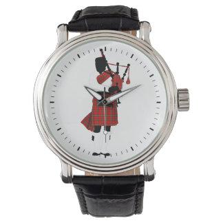 スコットランドのバグパイプ 腕時計