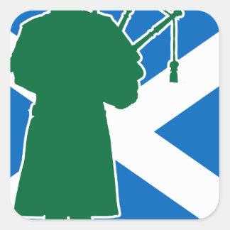 スコットランドのパイパー スクエアシール