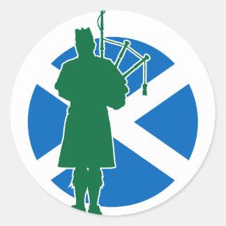 スコットランドのパイパー ラウンドシール