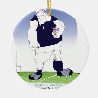 スコットランドのラグビープレーヤー、贅沢なfernandes セラミックオーナメント