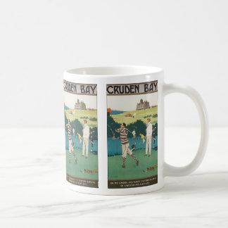 スコットランドのヴィンテージのスポーツのゴルフ、ゴルファーのゴルフをすること コーヒーマグカップ