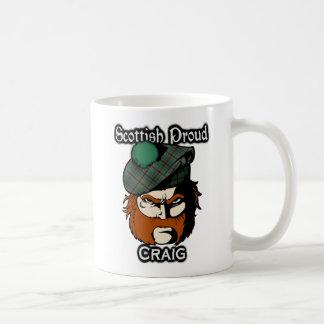 スコットランドの一族のクレイグのタータンチェックのスコットランド人 コーヒーマグカップ