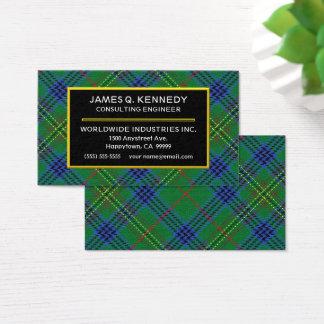 スコットランドの一族のケネディのタータンチェック格子縞 名刺