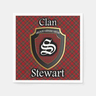 スコットランドの一族のステュワートのタータンチェックのナプキン スタンダードカクテルナプキン