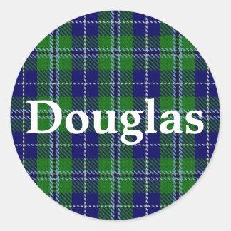 スコットランドの一族のダグラスのタータンチェック格子縞 ラウンドシール