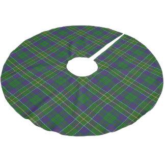 スコットランドの一族のハンターのタータンチェック ブラッシュドポリエステルツリースカート