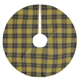スコットランドの一族のバークレイの黄色く黒い服のタータンチェック ブラッシュドポリエステルツリースカート