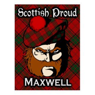 スコットランドの一族のマックスウェルのタータンチェックの郵便はがき ポストカード