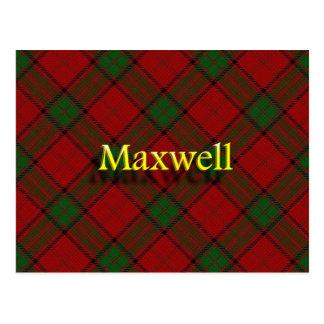 スコットランドの一族のマックスウェル ポストカード