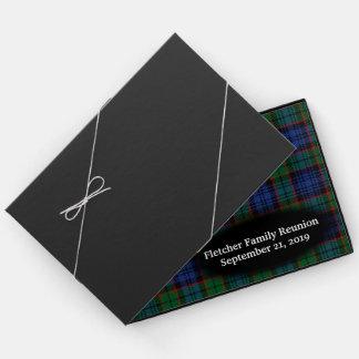 スコットランドの一族のFletcherのタータンチェック格子縞の家族会 ゲストブック