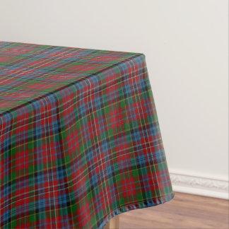 スコットランドの一族のKiddの赤い青緑のタータンチェック テーブルクロス