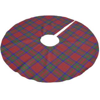 スコットランドの一族のMacGillivrayの赤い青緑のタータンチェック ブラッシュドポリエステルツリースカート