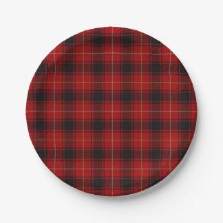 スコットランドの一族のMacIverのタータンチェック格子縞の好み ペーパープレート