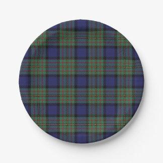 スコットランドの一族のMacLarenのタータンチェック格子縞の好み ペーパープレート