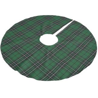 スコットランドの一族のMacLeanの緑の黒い狩りのタータンチェック ブラッシュドポリエステルツリースカート