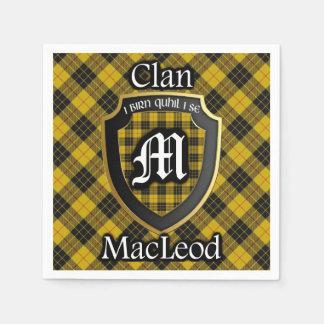 スコットランドの一族のMacLeodのタータンチェックのナプキン スタンダードカクテルナプキン