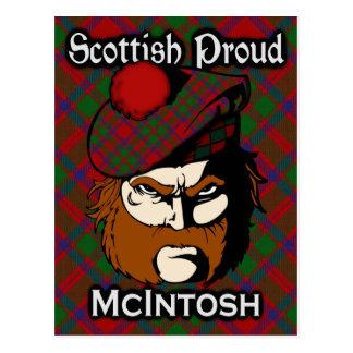 スコットランドの一族のMcIntoshのタータンチェックの郵便はがき ポストカード