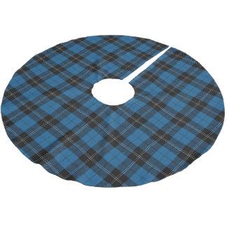スコットランドの一族のRamsay Ramseyの青い狩りのタータンチェック ブラッシュドポリエステルツリースカート