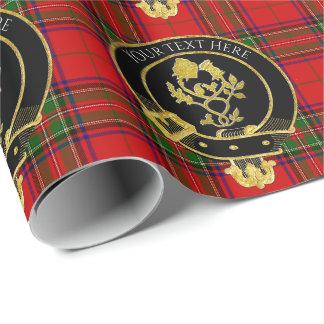 スコットランドの一族はばら色のアザミの頂点に達します ラッピングペーパー