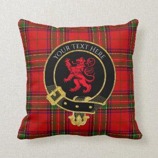 スコットランドの一族はタータンチェックのライオンの頂点に達します クッション