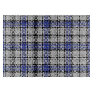 スコットランドの一族Hannayの青及び白いタータンチェック カッティングボード