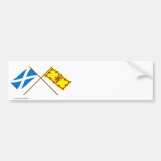 スコットランドの交差させた旗 バンパーステッカー