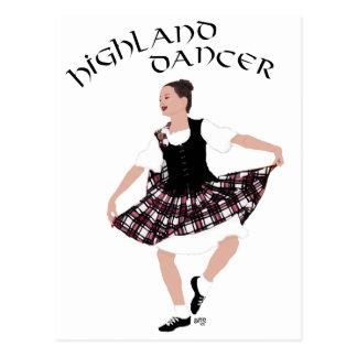 スコットランドの国のダンサー ポストカード