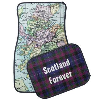 スコットランドの地図のカーマットセットのプライド カーマット