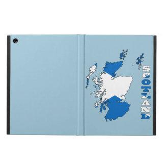 スコットランドの地図の旗 iPad AIRケース