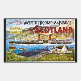 スコットランドの夏の王室のなルートはヴィンテージを旅行します 長方形シール