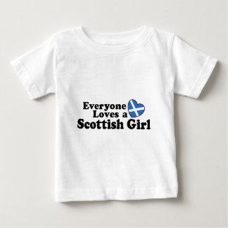 スコットランドの女の子 ベビーTシャツ
