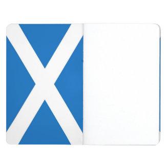 スコットランドの旗が付いている愛国心が強いジャーナル ポケットジャーナル