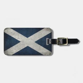 スコットランドの旗が付いている荷物のラベル ネームタグ