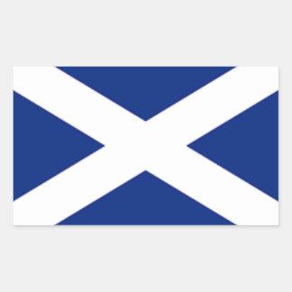 スコットランドの旗のステッカー 長方形シール
