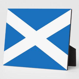 スコットランドの旗のプラク フォトプラーク