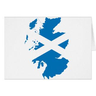 スコットランドの旗の地図 グリーティングカード