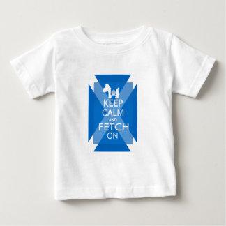 スコットランドの旗の平静そして策略を保って下さい: Westie ベビーTシャツ