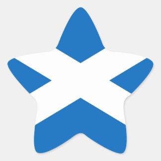 スコットランドの旗の星のステッカー 星シール