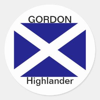 スコットランドの旗の衣類 ラウンドシール