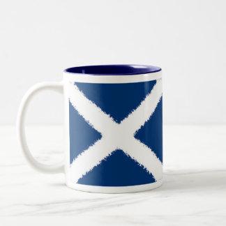スコットランドの旗 ツートーンマグカップ