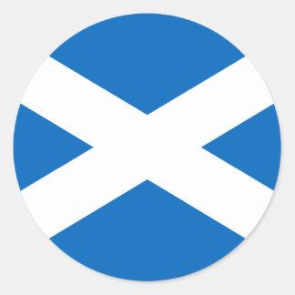 スコットランドの旗 ラウンドシール