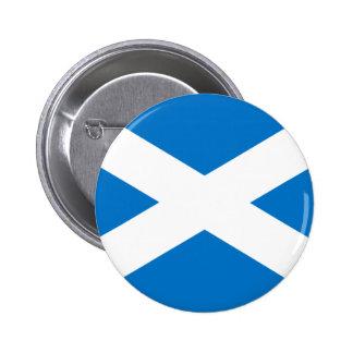 スコットランドの旗 5.7CM 丸型バッジ