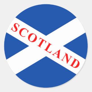 スコットランドの旗- Saltireのステッカー ラウンドシール