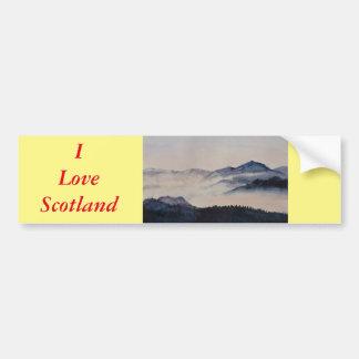 スコットランドの景色2 バンパーステッカー