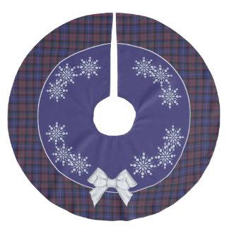 スコットランドの格子縞の木のスカートのエレガントなプライド ブラッシュドポリエステルツリースカート