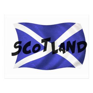 スコットランドの波状の旗 ポストカード