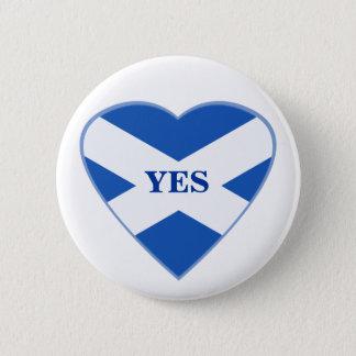 スコットランドの独立スコットランドの旗のハートのバッジ 5.7CM 丸型バッジ