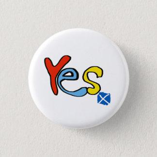 スコットランドの独立明るいYesのバッジ 缶バッジ