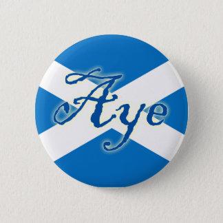 スコットランドの独立賛成旗ボタン 5.7CM 丸型バッジ